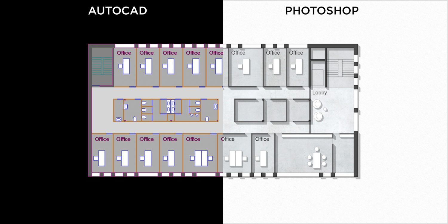 ... AutoCAD Floor Plan With Photoshop. Photoshop / Tutorial